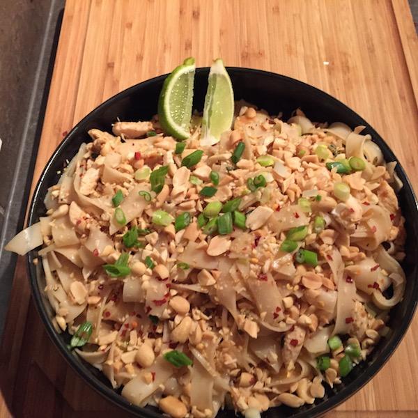 Chicken and Prawn Pad Tai