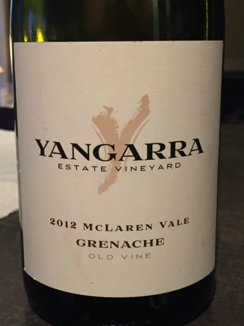 New Review: Yangarra Estate Vineyard 2012 McLaren Vale Old Vine Grenache