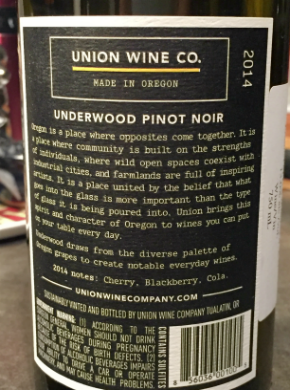 Back of the label
